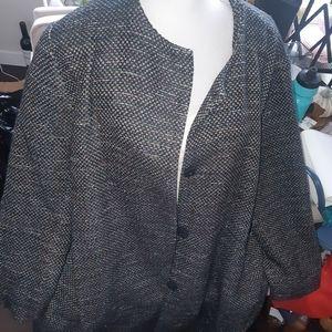 🦄 3/$60 H&M tweed jacket lined 22
